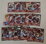 17 Autographed Signed AHL Hockey Hershey Bears Card Lot Rare Unique Local PA Issue