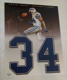 Kevin Jones Autographed Signed 11x14 Custom Photo Detroit Lions Legends Of The Field Hologram NFL