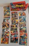 Vintage 1966 Topps Batman 55 Card Lot Starter Set w/ Original Empty Wax Box Display
