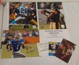 3 Steelers Autographed 8x10 Football Lot COA Dennis Dixon Stevenson Sylvester Chris Rainey