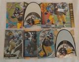 8 Jerome Bettis NFL Football Card Lot Rookies Inserts SPx Diecuts