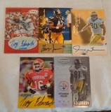 5 Steelers NFL Football Signed Autographed Rookie Card Lot