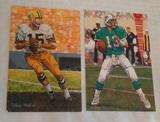 2 NFL Football Goal Line Art Card Pair GLAC HOF Dan Marino Bart Starr /5000 LE