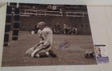 Y.A. Tittle Autographed Signed 16x20 Photo Giants HOF JSA COA HOF 71 Inscription Bloody Shot
