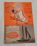 Vintage 1961 Baltimore Orioles Official Scorecard Publication Nice Clean Advertising
