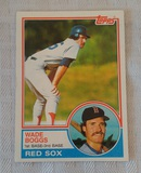 Key Vintage 1983 Topps Baseball #498 Wade Boggs Rookie Card Red Sox RC HOF