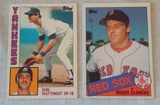 Vintage 1984 Topps Baseball Card #8 Don Mattingly Yankees RC Rookie 1985 Roger Clemens #181 Red Sox