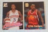 2 Allen Iverson NBA Rookie Card Pair RC 76ers HOF 1996-97 Ultra #82 & Stadium Club #R1