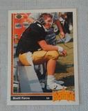 1991 Upper Deck NFL Football Brett Favre Rookie Card #13 Packers Falcons HOF RC