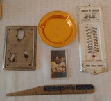 Vintage Advertising Lot Metal Thermometer Eveready Battery Old Early Card