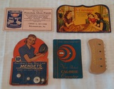 Vintage Needle Packs Blotter Cards Advertising Lot Counter