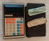 Vintage Unisonic 849 Calculator w/ Case Instructions