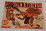 Vintage 1935 College Football Professional Schedules Score Sheets Radio Charts & More
