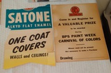 Vintage 1950s Cardboard Advertising Sign BPS Paint Sold Poster Store Display Advertisement