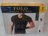 Brand New Polo Ralph Lauren 2 Pack Stretch Cotton V Neck Pair Large White