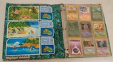Vintage 1990s Pokemon Southern Islands Binder w/ 45 Cards Holo Rares Card Collection