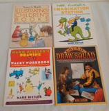 4 Mark Kistler 3-D Drawing Book Lot Illustration Children's Draw Squad