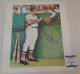 Brooks Robinson Autographed 18x21 Lithograph Poster Norman Rockwell Orioles HOF Baseball MLB BAS COA