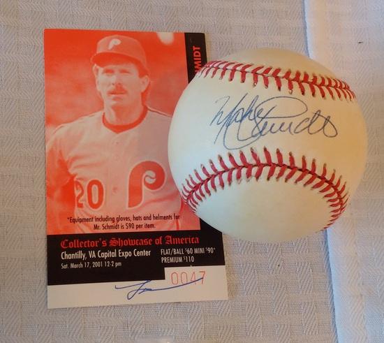 Mike Schmidt Autographed Signed ROMLB Baseball Phillies HOF CSA Show COA