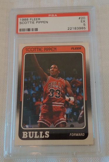 1988-89 Fleer NBA Basketball Rookie Card RC #20 Scottie Pippen Bulls HOF PSA GRADED 5 Undergraded