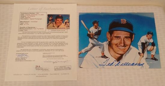 Ted Williams Autographed Signed 8x10 Photo Red Sox HOF Full JSA LOA COA