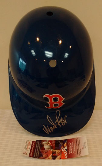 Wade Boggs Autographed Signed Full Size Plastic Batting Helmet Red Sox JSA COA