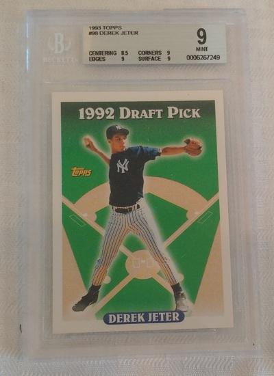 1993 Topps Baseball #98 Derek Jeter Yankees BGS GRADED 9 MINT Beckett Yankees HOF 9 Subs MLB Key