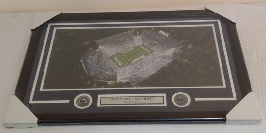 Penn State College Football Beaver Stadium Panoramic Photo White Out Framed Matted 20x30 Stadium