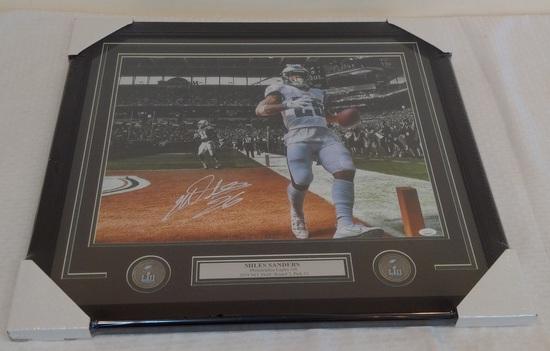 Miles Sanders Autographed Signed 16x20 Photo Eagles Penn State JSA COA Framed Matted NFL Football