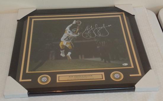 JuJu Smith-Shuster Catch Autographed Signed 16x20 Photo Steelers BAS COA Framed Matted NFL Football