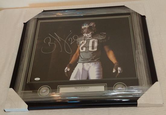 Brian Dawkins Autographed Signed 16x20 Photo Framed Matted NFL Football Eagles HOF JSA COA