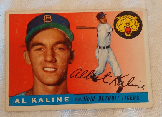 Vintage 1955 Topps Baseball Card #4 Al Kaline Tigers HOF