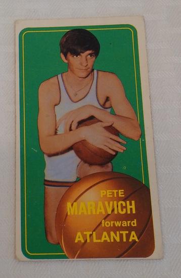 Key Vintage 1970-71 Topps NBA Basketball #123 Pistol Pete Maravich Rookie Card RC Hawks HOF Tallboy