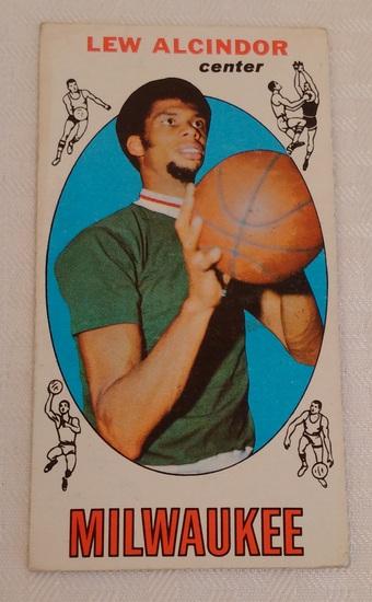 Key Vintage 1969-70 Topps NBA Basketball #25 Lew Alcindor Rookie Card RC Bucks HOF Kareem Tallboy