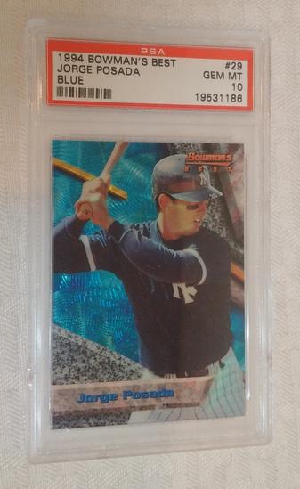 1994 Bowman's Best Baseball Rookie Card #29 Joge Posada Yankees Blue PSA GRADED 10 GEM MINT RC MLB
