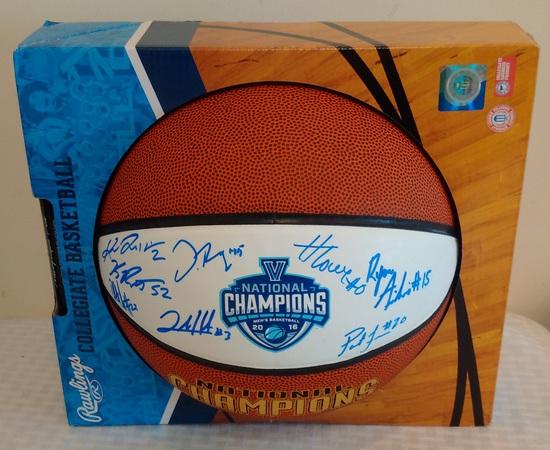 Villanova Basketball Team 8 Multi Signed Autographed 2016 Champions Logo Basketball JSA COA NCAA