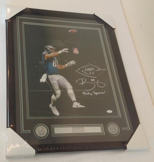 Trey Burton Autographed Signed 16x20 Photo Eagles Super Bowl Philly Special JSA Framed Matted NFL