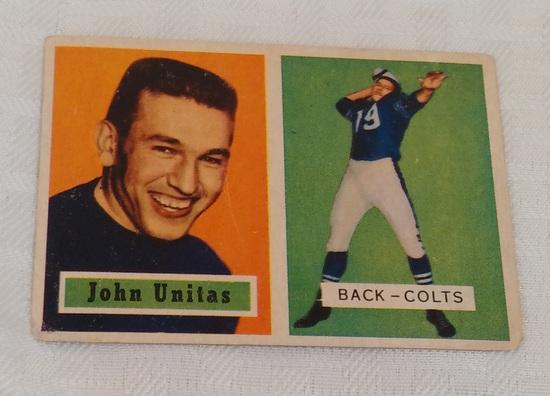 Key Vintage 1957 Topps NFL Football Card #138 Johnny Unitas Rookie Card RC Colts HOF