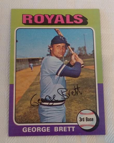 Key Vintage 1975 Topps MLB Baseball Rookie Card RC #228 George Brett Royals HOF Solid Condition
