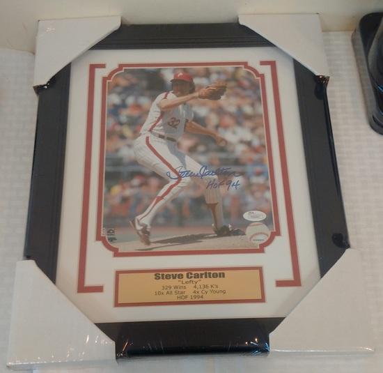 Steve Carlton Autographed Signed 8x10 Photo Framed Matted JSA COA Phillies HOF
