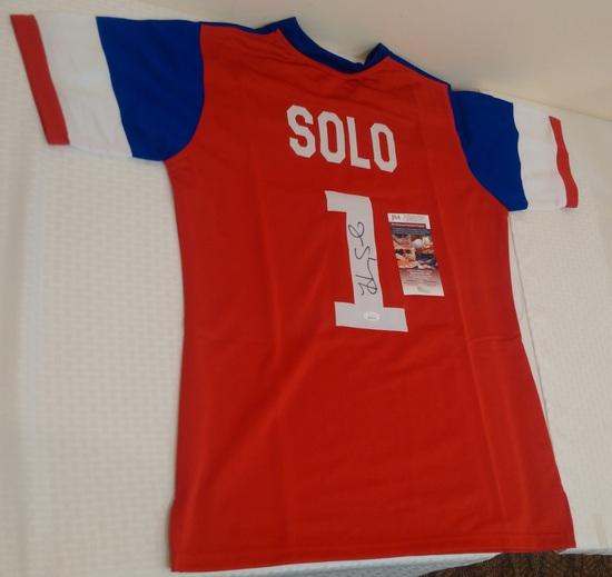 Hope Solo Autographed Signed Custom United States Soccer Jersey USWNT JSA COA Goalie XL