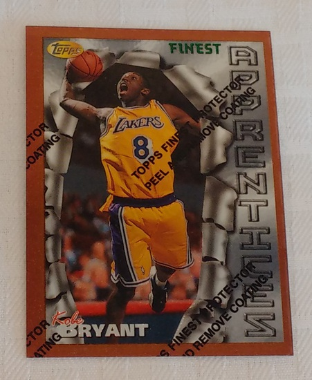 1996-97 Finest NBA Basketball Rookie Card RC Kobe Bryant Lakers HOF w/ Peel Sharp