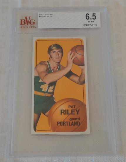 Vintage 1970-71 Topps NBA Basketball Card #13 Pat Riley Rookie RC Beckett GRADED 6.5 EX-MT+ Portland