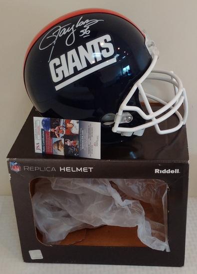 Lawrence Taylor Autographed Singed NFL Football Riddell Full Size Helmet JSA COA Giants HOF LT + Box