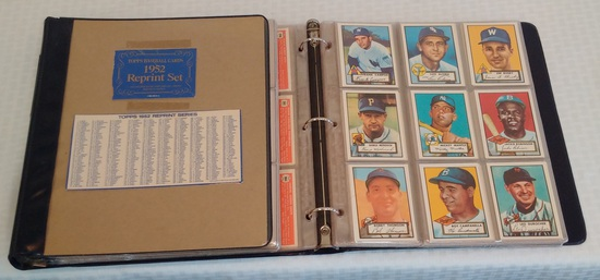 Vintage 1952 Topps Baseball Reprint Complete Card Set In Album Mantle Jackie Yogi Mathews Mays 1983