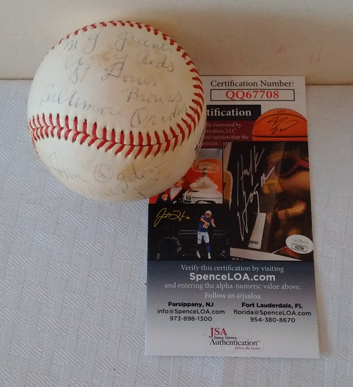 Autographed Signed John Jack Ogden Spalding Feeney Baseball Ball JSA 1971 Scout Inscription Team 1/1