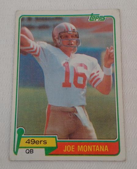 Key Vintage 1981 Topps NFL Football #216 Rookie Card RC Joe Montana 49ers HOF