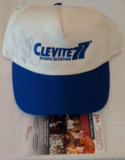Dale Earnhardt Sr Autographed Signed Snapback Hat Cap NASCAR JSA COA HOF Clevite 77 Engine Bearings