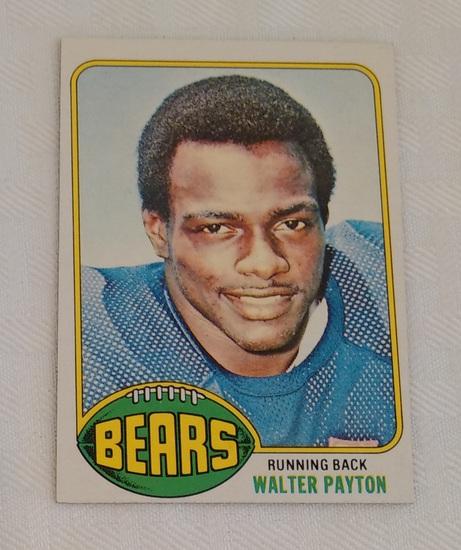 Key Vintage 1976 Topps NFL Football #148 Walter Payton Rookie Card RC Bears HOF