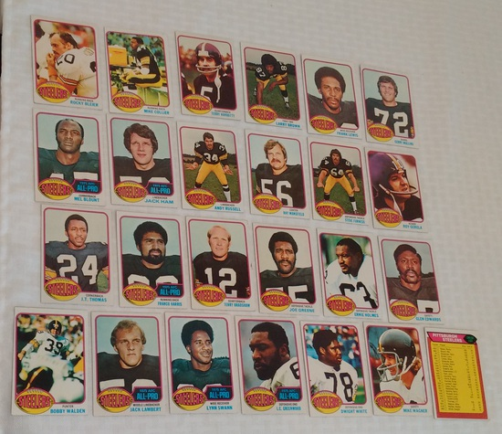 Complete Team Set 1976 Topps NFL Football Card Lot Pittsburgh Steelers 25 Cards Lambert RC Bradhsaw